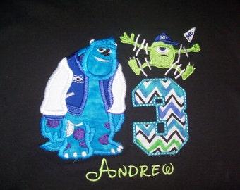 Monster University Birthday Shirt