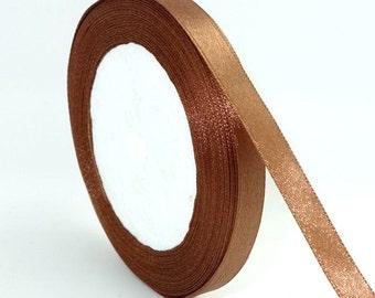 "Light Brown Satin Ribbon-3/8""-10mm-10 YDS"