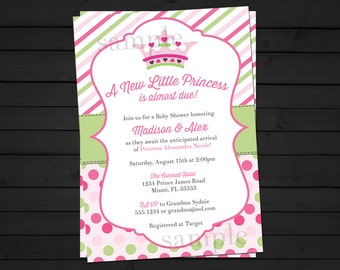 A New Little Princess Baby Shower Invitation Digital File YOU-PRINT