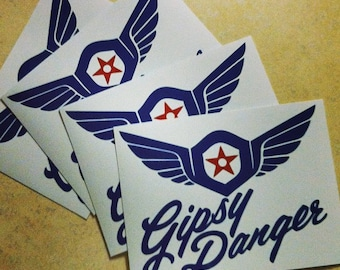 Gipsy Danger sticker - pacific rim jaeger decal geek gift