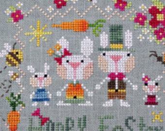 Hoppy Easter : Barbara Ana cross stitch patterns Spring March April hand embroidery