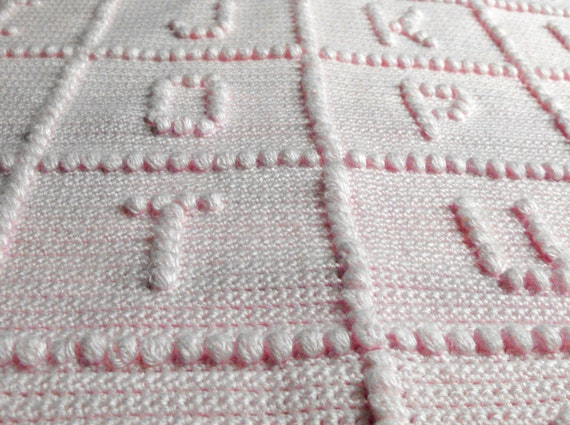 Abc Crochet Baby Blanket Free Pattern Squareone For