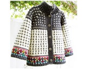 Fair Isle Style Cardigan for Kids - Crochet Pattern - Instant Download