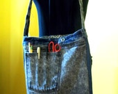 Denim Tote for Book Bag, Carryall or Craft Projects
