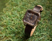 Vintage Handcraft Wrist Watch with Leather Band /// Nemo Black - Perfect Gift for Birthday and Anniversary
