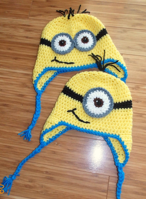 Free Crochet Pattern For Minion Hat And Overalls : Despicable Me Crochet Minion Hat Child 4-10 Years
