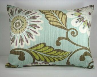 HGTV Urban Blossom Weave Modern Decorative Lumbar Accent Toss Pillow 13x18 Pillow Cover