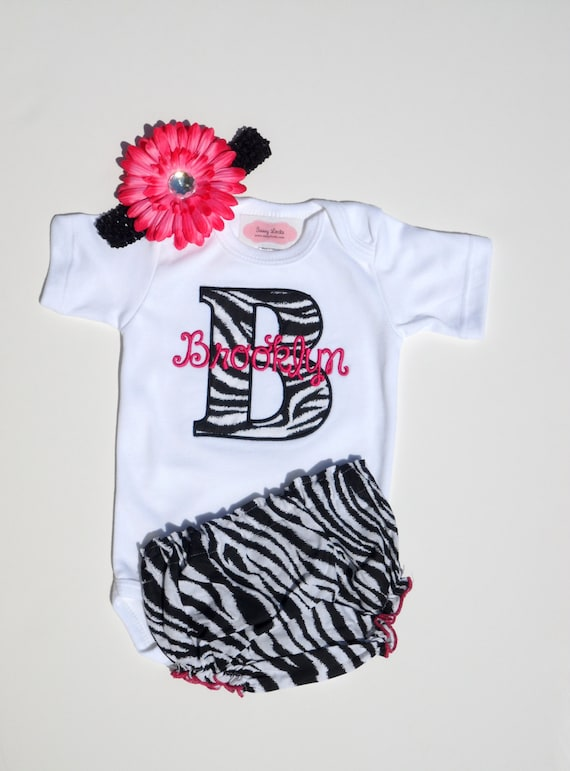 Items similar to Monogram Baby Girl Clothes Newborn Girl