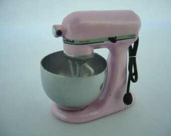 Dollhouse Miniatures LIGHT PINK KITCHENAID Mixer Electric Kitchenware Bakery