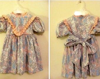 Ruth of Carolina Monet's Garden Little Girl Dress - 4T