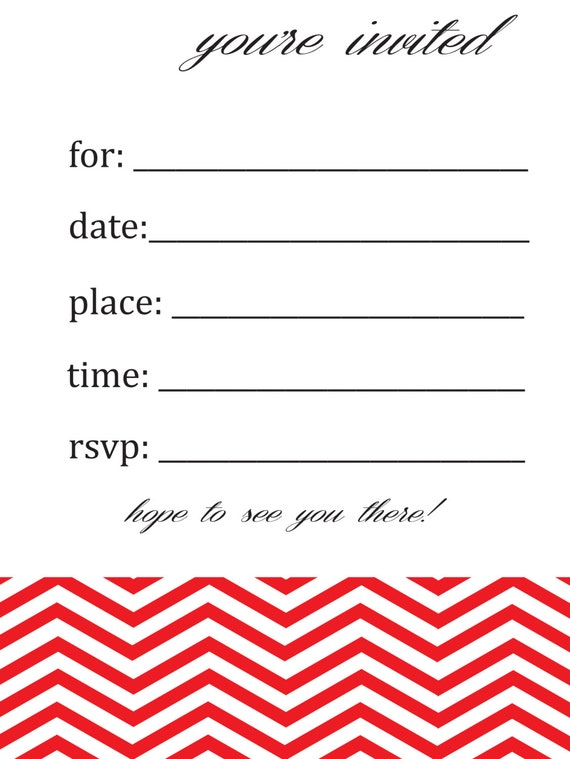 items similar to general  blank chevron birthday or party