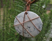 Howlite Copper Wire wrapped large Stone