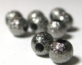 Stardust Beads Brass NIckel Free  Black color 4mm Spacer Beads 50 pieces