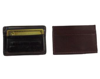 All Leather Front Pocket Credit Card/Cash Wallet