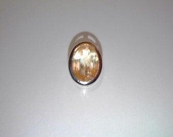 Citrine sliding pendant