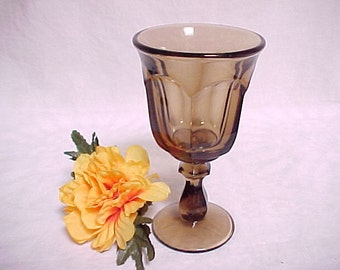 Old Williamsburg by Imperial Glass Wine in Nut Brown, Vintage Colored Glassware Stem, Collectible Glass Barware, Heisey Re Issue