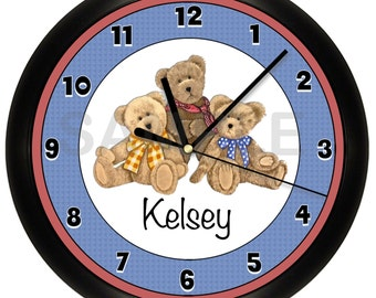 Personalized Teddy Bear WALL CLOCK