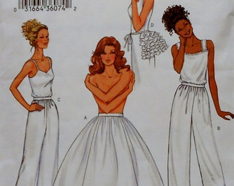 Butterick Uncut Sewing Pattern  3737 MAKING HISTORY Adult Halloween or Re-enactment Costume - Petticoat Pants Bustle