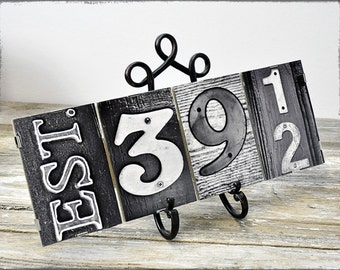 Framed Established Date Sign, perfect gift for Wedding or Anniversary, 4 date photos in number Photography