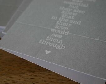 Love Greeting Card - Wedding Anniversary - Husband Wife Boyfriend Girlfriend Gray Rustic Distressed Card