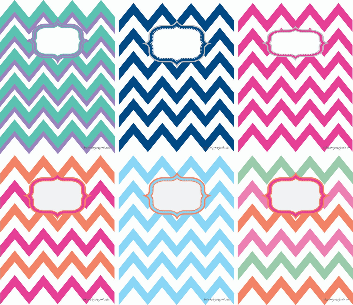 Printable Chevron Binder Covers