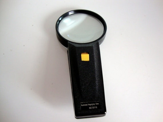 Vintage magnifying glass office craft for Craft light with magnifying glass