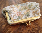 RESERVED FOR DAWN Vintage 1940s Jolles Original Kiss Lock Beaded Coin Purse