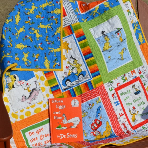 dr  seuss baby quilt green eggs and ham sam i am
