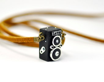 Personalized necklace Rolleiflex Camera miniature / Personalized Gift / Personalized Necklace / Personalized Jewelry