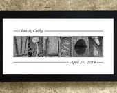 ALPHABET PHOTOGRAPHY - Personalized Gift for Couples, Gift for Mom, Gift for Wife, Gift for Her