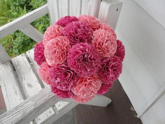 carnations wedding bouquet large pink paper carnations wedding bouquet 2462