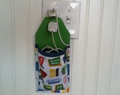 Docking Station for iPhone 6, 6 Plus, 5s, 5c, 4, 4s iPod touch in green blue white travel scene