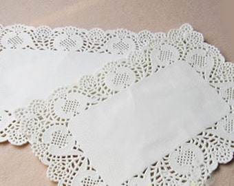 Paper Doilies Rectangle 6.5 inch set of 100