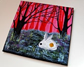 Acrylic Painting- Wall Art - Forest Painting - Original Painting on Canvas - Abandoned - OOAK