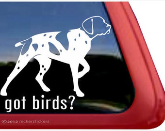 Got Birds? | DC707GOT | High Quality Adhesive Vinyl German Shorthaired Pointer Window Decal Sticker