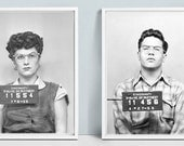 TWO POSTERS - (2) Vintage  Mugshot Posters