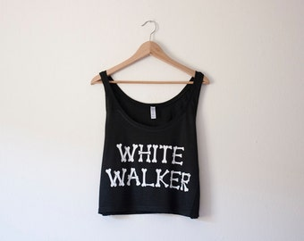 White Walker Crop Tank by So Effing Cute - inspired by Game of Thrones