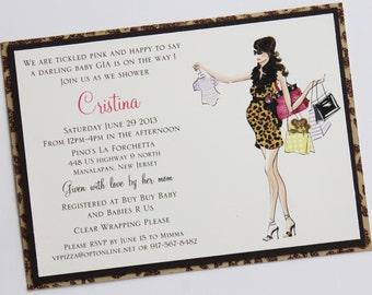 Fashionista Momma Baby Shower Invitation