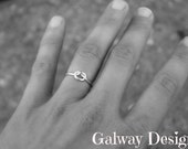Rose Gold, Gold, Sterling INFINITY KNOT LOVE Ring - Sterling Silver knot ring Nautical ring - Promise ring - Purity ring - sailor knot