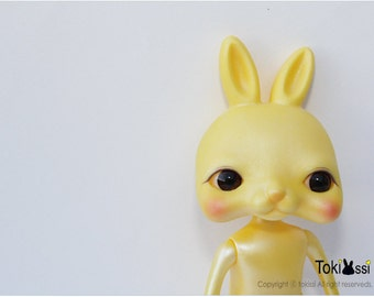 Tokissi rabbit doll / bunny / yellow / shimmer / gift