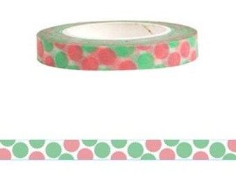 Round Dots Washi Tape (6mm X 15M)