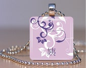 Yi (Maternal Younger Aunt in Chinese) Adoption Pendant - Your Choice of Color and Personalization