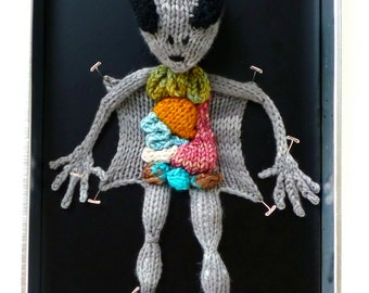 Knitted Alien Autopsy PDF Pattern
