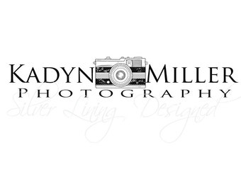 Professional Premade Logo / Photography Watermark  -  Small Business - Camera