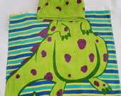 Personalized Hooded Beach Towel, Dinosaur
