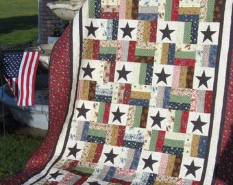 Stars and Stripes  -  A Jelly Roll Quilt Pattern