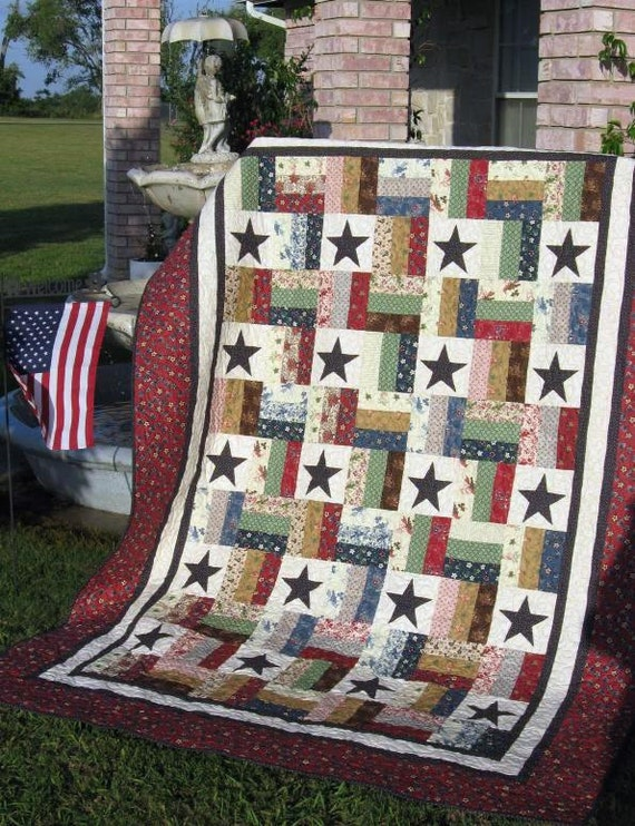 Stars and Stripes A Jelly Roll Quilt Pattern : stars and stripes quilt - Adamdwight.com