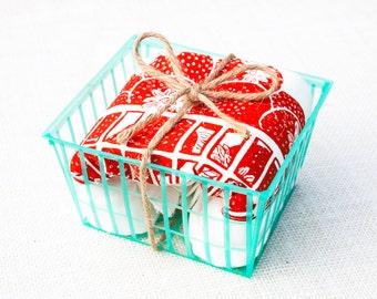 Strawberry Basket Flour Sack Dish Towel