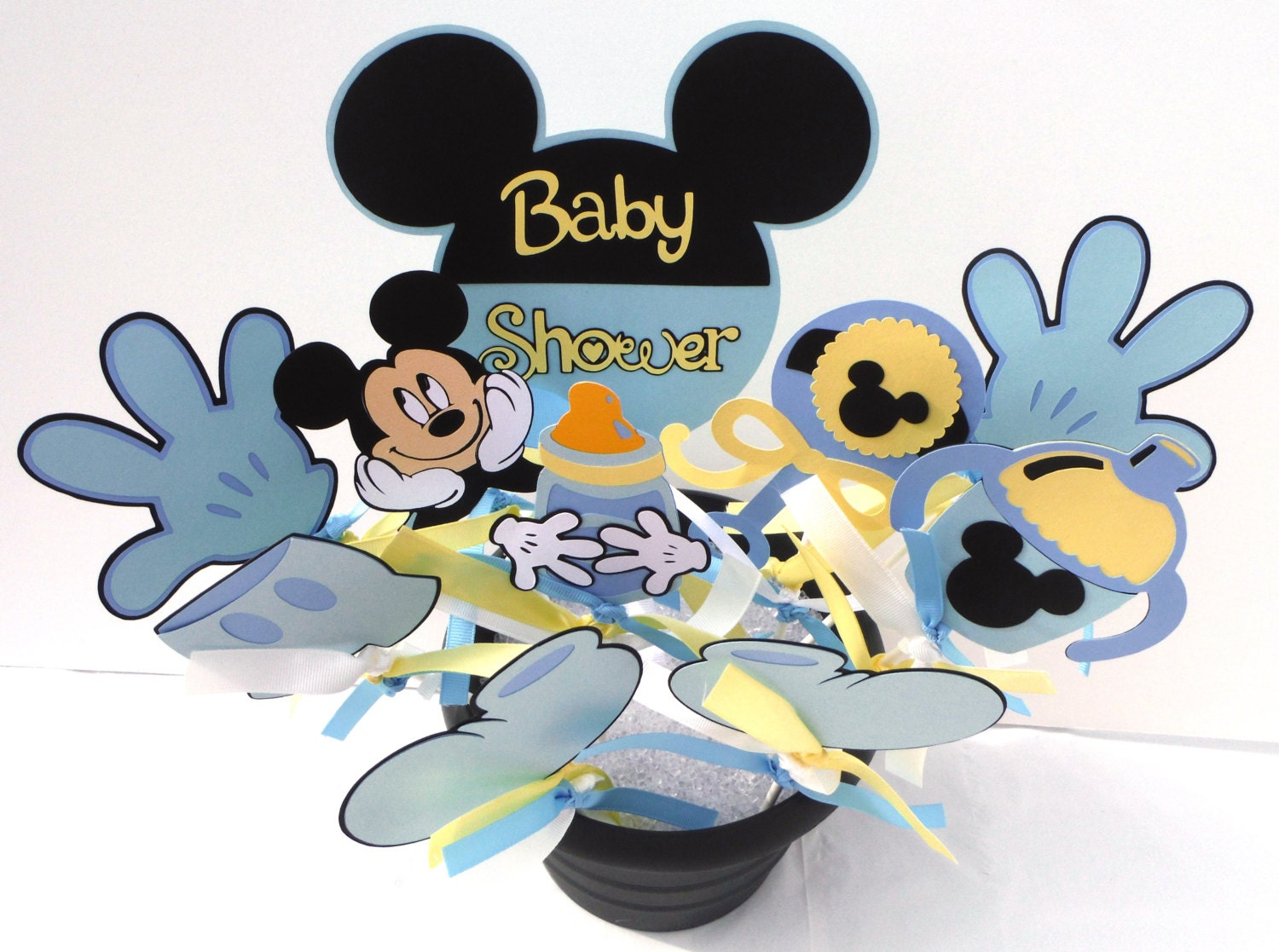baby shower mickey mouse themed party centerpiece sticks set