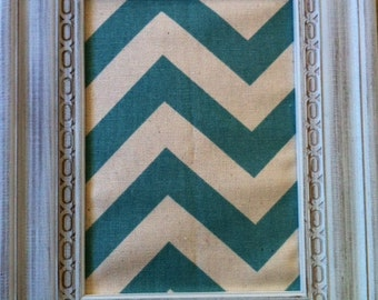 Framed Pinboard (Teal Chevron)